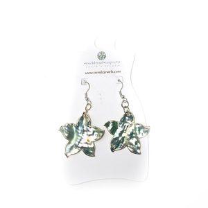 NWT Trendy Jewelry Metallic Flower Earrings